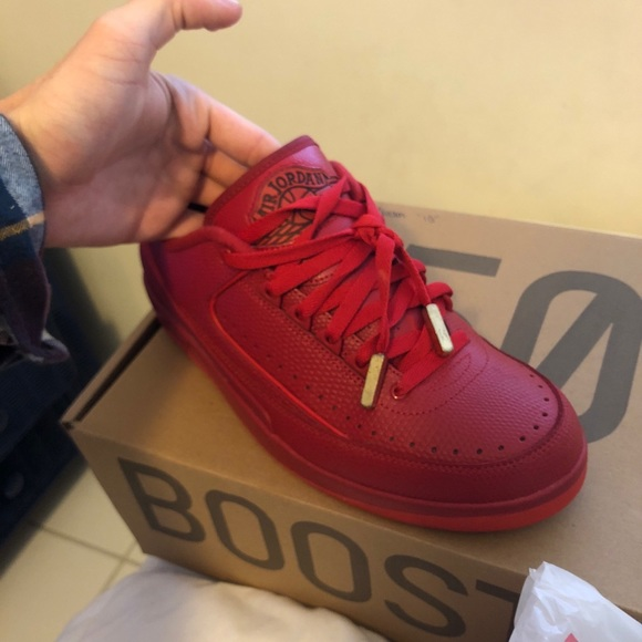 "huge selection of b0ebd b0c10 Air Jordan Retro 2 low ""Gym Red"" size 9.5"